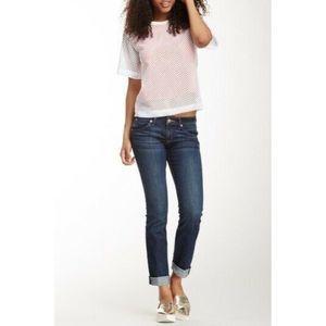 HUDSON Bacara Straight Flood Cuff Blue Jeans
